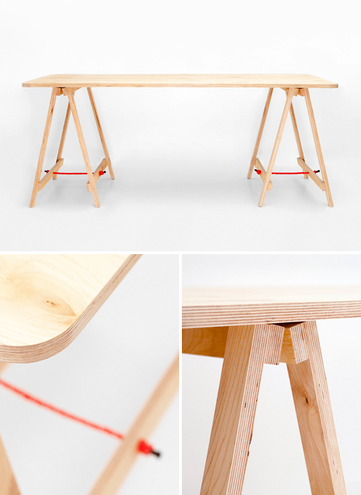 Merveilleux Tressel Table Co. Plywood Trestle ...