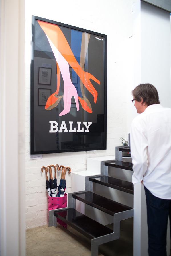 Bally vintage poster in the hallway.  Photo - John Deer.